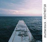 amazing sea view  beautiful sky | Shutterstock . vector #454740718