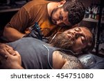 professional tattoo artist... | Shutterstock . vector #454751080