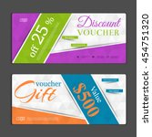 gift voucher template. can be... | Shutterstock .eps vector #454751320