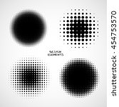 simple abstract halftone... | Shutterstock .eps vector #454753570