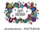 birthday bubble hand drawn...   Shutterstock .eps vector #454753918