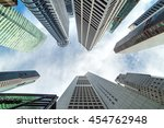 skyscrapers of central business ... | Shutterstock . vector #454762948