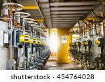 control valve in oil and gas... | Shutterstock . vector #454764028