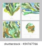 set of beautiful watercolor... | Shutterstock . vector #454767766