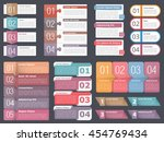 infographic templates with... | Shutterstock .eps vector #454769434