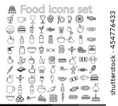 food icon illustration design | Shutterstock .eps vector #454776433