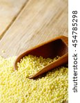 Small photo of Proso grains on the kitchen table