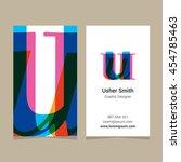 "logo alphabet letter ""u""  with... | Shutterstock .eps vector #454785463"