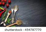 menu food culinary frame... | Shutterstock . vector #454787770