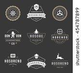 vintage logos design templates... | Shutterstock .eps vector #454787899