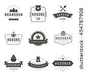 vintage logos design templates... | Shutterstock .eps vector #454787908