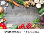 menu food culinary frame... | Shutterstock . vector #454788268