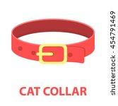 pet collar icon of vector... | Shutterstock .eps vector #454791469