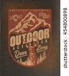 deer. wild deer vintage deer... | Shutterstock .eps vector #454800898