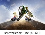 multi sports motorsport collage  | Shutterstock . vector #454801618