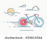 sport bike line style.... | Shutterstock .eps vector #454814566