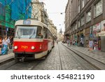prague  czech republic   june... | Shutterstock . vector #454821190