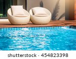 relaxing rattan chairs with... | Shutterstock . vector #454823398
