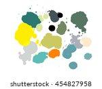 collection of paint splash.... | Shutterstock .eps vector #454827958