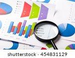 business charts blue | Shutterstock . vector #454831129