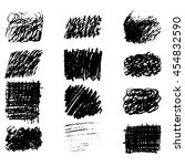 vector hand drawn textures made ... | Shutterstock .eps vector #454832590