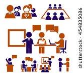 human resources  communication  ... | Shutterstock .eps vector #454835086