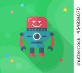 robot icon   vector flat long... | Shutterstock .eps vector #454836070