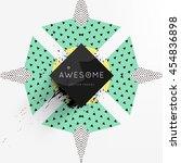 trendy geometric flat pattern ... | Shutterstock .eps vector #454836898