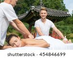 professional massage medical... | Shutterstock . vector #454846699