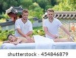 professional spa massage... | Shutterstock . vector #454846879