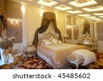 a modern european bedroom with... | Shutterstock . vector #45485602