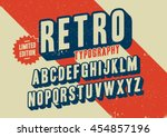 vector of stylized retro font... | Shutterstock .eps vector #454857196