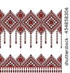 embroidered old handmade cross... | Shutterstock .eps vector #454858306