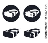 virtual reality headset icons ... | Shutterstock .eps vector #454864414