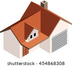 isometric house  building... | Shutterstock .eps vector #454868308