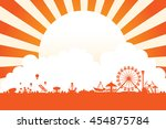 vector of amusement park... | Shutterstock .eps vector #454875784