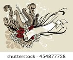 decorative illustration of a... | Shutterstock .eps vector #454877728