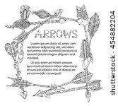 vector ethnic arrows square... | Shutterstock .eps vector #454882204