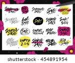 colorful set of handwritten... | Shutterstock .eps vector #454891954