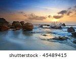 sunrise view at seaside kuantan ... | Shutterstock . vector #45489415