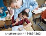 education  bullying  violence ... | Shutterstock . vector #454894363