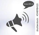 megaphone icon. loudspeaker...