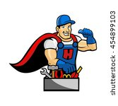 handyman | Shutterstock .eps vector #454899103