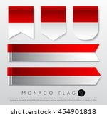 set of world flag ribbon... | Shutterstock .eps vector #454901818