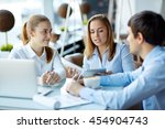 gadgets in work | Shutterstock . vector #454904743