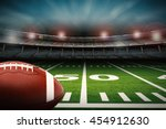 3d Rendering American Football...