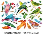 a set of victorian style... | Shutterstock . vector #454912660