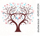 the wedding tree in the shape... | Shutterstock .eps vector #454913524