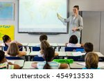 female teacher teaching... | Shutterstock . vector #454913533