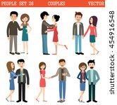 loving couples. men and women.... | Shutterstock .eps vector #454916548